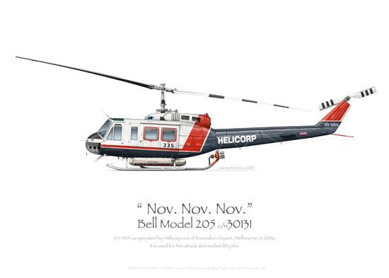 Bell Model 205 VH-NNN Helicorp