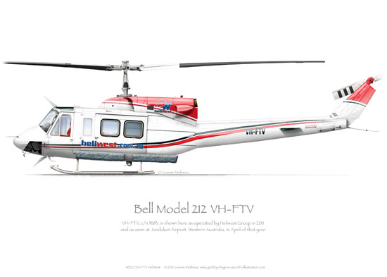 Bell Model 212 VH-FTV Heliwest