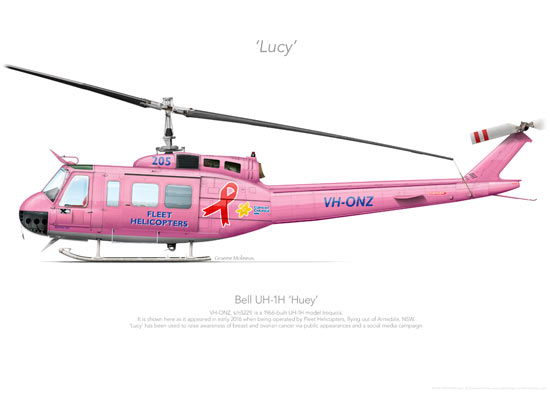 Bell UH-1H VH-ONZ 'Lucy' Print