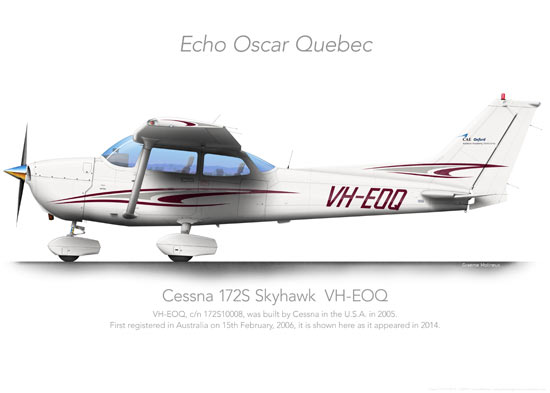 CESSNA 172 VH-EOQ Oxford Print
