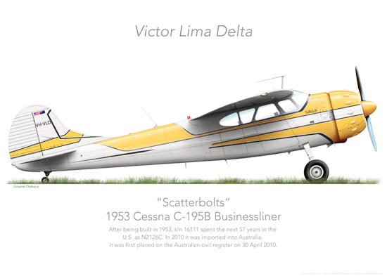 Cessna 195 Businessliner VH-VLD 'Scatterbolts'