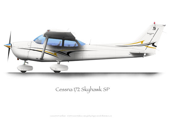 Cessna 172 SP Sunflower A3+ Print