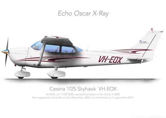 CESSNA 172 VH-EOX Oxford Print
