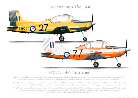 PAC CT-4A AIRTRAINER RAAF FIRST AND LAST PRINT