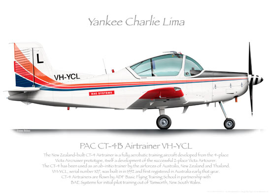 PAC CT-4B AIRTRAINER VH-YCL BAE O PRINT