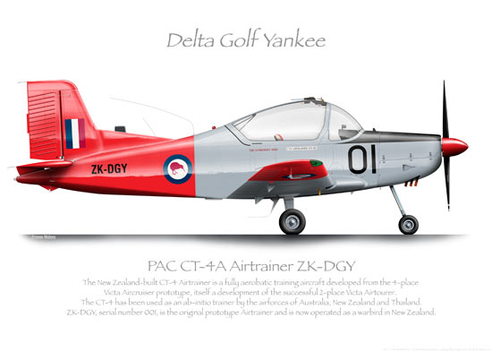 PAC CT-4B AIRTRAINER ZK-DGY O PRINT