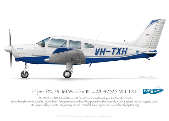 Piper Warrior VH-TXH MFS