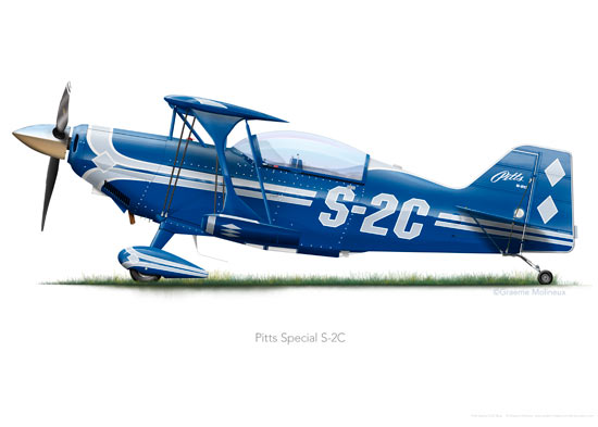 Pitts Special S-2C Blue A3+ print