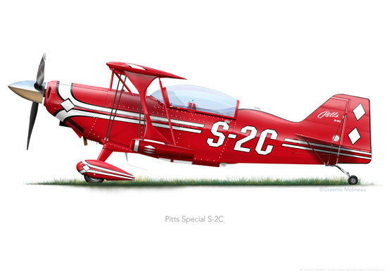 Pitts Special S-2C Red A3+ print