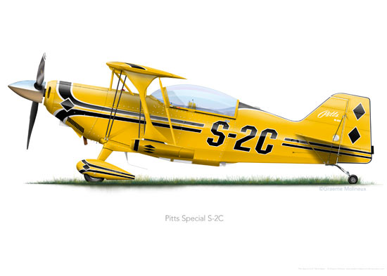 Pitts Special S-2C Yellow A3+ print