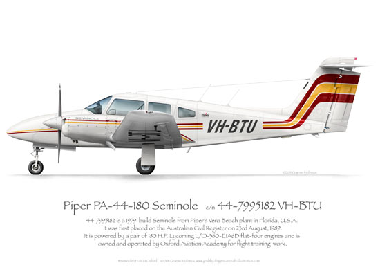 Piper Seminole VH-BTU Oxford