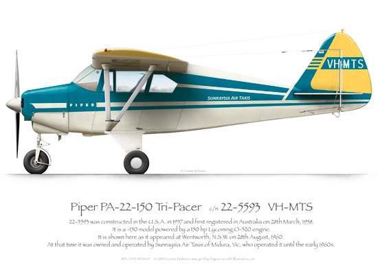 Piper Tri-Pacer VH-MTS Sunraysia Air Taxis