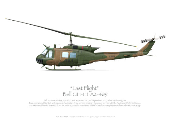 Bell UH-1H Iroquios A2-489 Last Flight