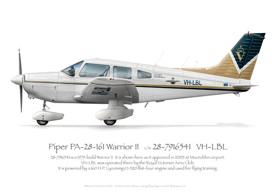 Piper Warrior VH-LBL RVAC 2005