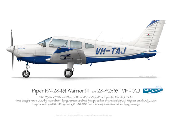 Piper Warrior VH-TAJ MFS