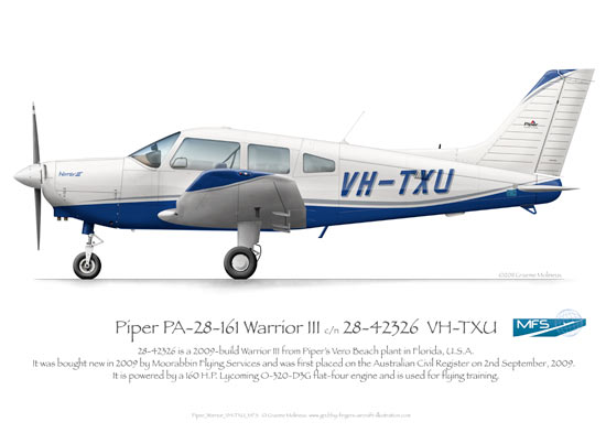 Piper Warrior VH-TXU MFS