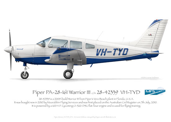 Piper Warrior VH-TYD MFS