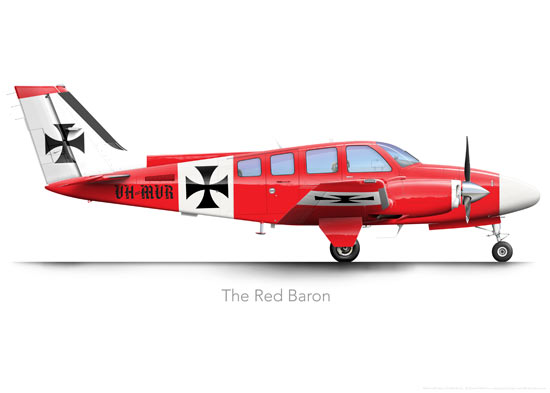 Beechcraft Baron Prints