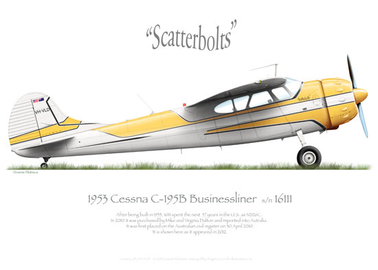 Cessna 195 Businessliner Prints
