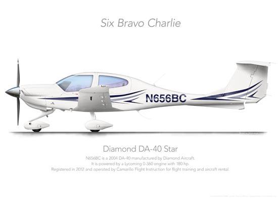 DIAMOND DA-40 PRINTS