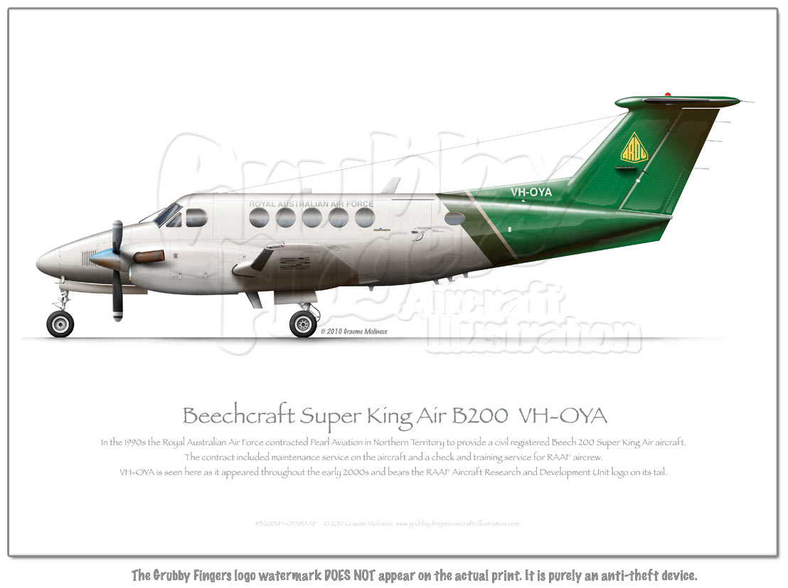 Beechcraft Super King Air B200 VH-OYA RAAF - Click Image to Close