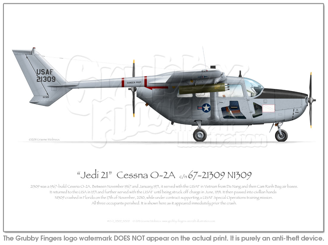 Cessna O-2 21309 N1309 - Click Image to Close