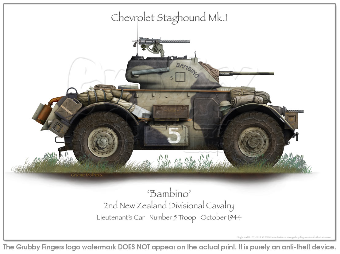 Chevrolet Staghound MkI Cpl 5Tp 1944 - Click Image to Close