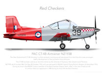 PAC CT-4B AIRTRAINER NZ1938 RED CHECKERS PRINT