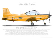PAC CT-4B AIRTRAINER ZK-JMF 2015 PRINT
